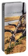 Gnarly Tree Portable Battery Charger by Barbara Snyder