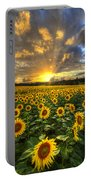 Golden Evening Portable Battery Charger by Debra and Dave Vanderlaan