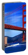 Golden Gate Bridge Panoramic View Portable Battery Charger