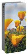 Golden Poppies Impasto Portable Battery Charger