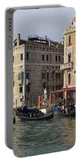 Gondolas In The Grand Canal Portable Battery Charger