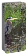 Great Blue Heron At Deboville Slough 2 Portable Battery Charger