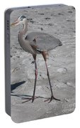 Great Blue Heron On The Beach Portable Battery Charger