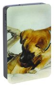 Great Dane And Australian Sheperd Portable Battery Charger