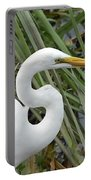Great Egret Close Up Portable Battery Charger