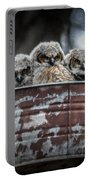 Great Horned Owl Chicks Portable Battery Charger
