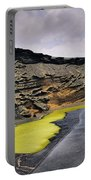 Green Lagoon On Lanzarote Portable Battery Charger