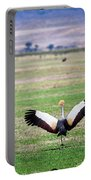 Grey Crowned Crane. The National Bird Of Uganda Portable Battery Charger