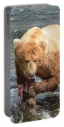 Grizzly Bear Salmon Fishing Portable Battery Charger