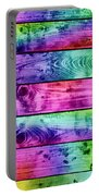 Grunge Colorful Wood Planks Background Portable Battery Charger