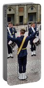Guards Changing Shifts. Kungliga Slottet.gamla Stan. Stockholm 2 Portable Battery Charger
