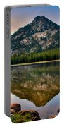 Gunsight Mountain Reflection Portable Battery Charger by Robert Bales