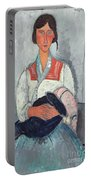 Gypsy Woman With Baby Portable Battery Charger by Amedeo Modigliani