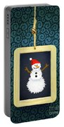 Hanged Xmas Slate - Snowman Portable Battery Charger