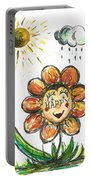 Happy Flower Portable Battery Charger