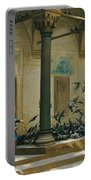 Harem Women Feeding Pigeons In A Courtyard Portable Battery Charger
