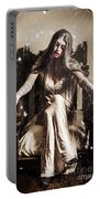 Haunting Horror Scene With A Strange Vampire Girl  Portable Battery Charger