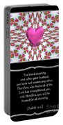 Heart And Love Design 16 With Bible Quote Portable Battery Charger