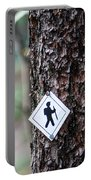 Hiking Trail Sign On The Forest Paths Portable Battery Charger