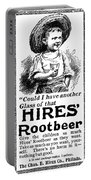 Hires' Root Beer Ad, 1895 Portable Battery Charger