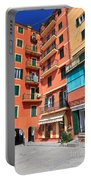 homes and promenade in Camogli Portable Battery Charger