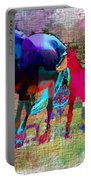 Horses Of Different Colors Portable Battery Charger