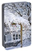 House Under Snow Portable Battery Charger