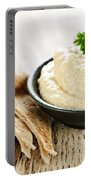 Hummus With Pita Bread Portable Battery Charger