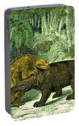 Iguanodon Biting Megalosaurus Portable Battery Charger