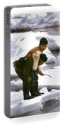 Inuit Boys Ice Fishing Barrow Alaska July 1969 Portable Battery Charger