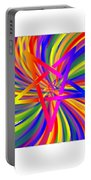 Inverted Rainbow Spiral Portable Battery Charger