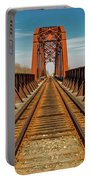 Iron Railroad Bridge Over Water, Texas Portable Battery Charger