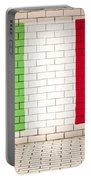 Italy Flag Brick Wall Background Portable Battery Charger