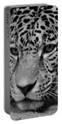 Jaguar In Black And White II Portable Battery Charger