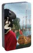 Japanese Chin Art Canvas Print Portable Battery Charger