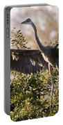 Juvenile Blue Heron Portable Battery Charger