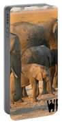 Kalahari Elephants Portable Battery Charger
