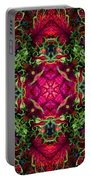 Kaleidoscope Made From An Image Of A Coleus Plant Portable Battery Charger