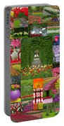 Keukenhof Gardens Collage Portable Battery Charger