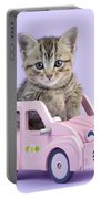 Kitten In Pink Car Portable Battery Charger