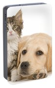 Labrador And Forest Cat Portable Battery Charger