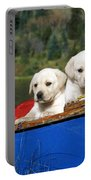 Labrador Retriever Puppies Portable Battery Charger