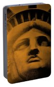 Lady Liberty In Orange Portable Battery Charger