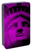 Lady Liberty In Purple Portable Battery Charger