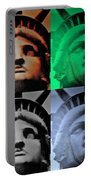 Lady Liberty In Quad Colors Portable Battery Charger