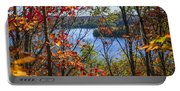 Lake And Fall Forest Portable Battery Charger