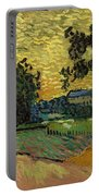 Landscape At Twilight Portable Battery Charger