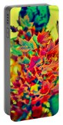 Leaves In Abstract Portable Battery Charger