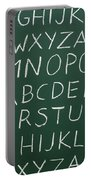 Letters On A Chalkboard Portable Battery Charger