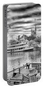 Liberty Square Riverboat Portable Battery Charger by Howard Salmon